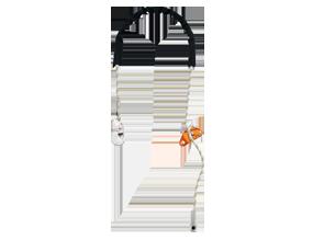 Cordino regolabile di posizionamento sul lavoro con connettore Hook - GRILLON HOOK