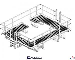 Plan : Structure porteuse pour climatisation
