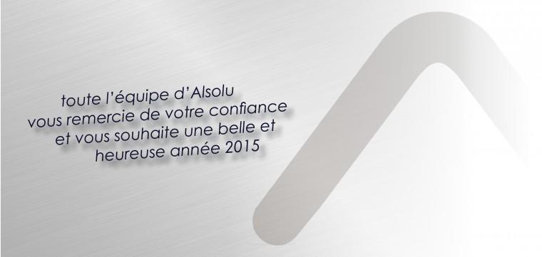Alsolu vous souhaite une heureuse année 2015