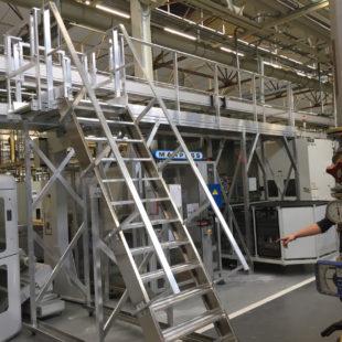Escalier technique et passerelle de maintenance VECTAWAY®
