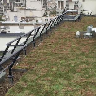 VECTACO – Barandilla con sistema de fijación sobre losa para impermeabilizar