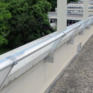 Parapetto fissaggio in parete sporgente inclinato VECTACO® – parapetto inclinato autoportante VECTACO®